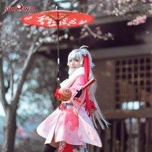 Uwowo destin/Grand ordre Jeanne dArc alter Santa Lily sabre Lily Anime Cosplay Costume pour femmes Halloween uniforme Kimono 2019