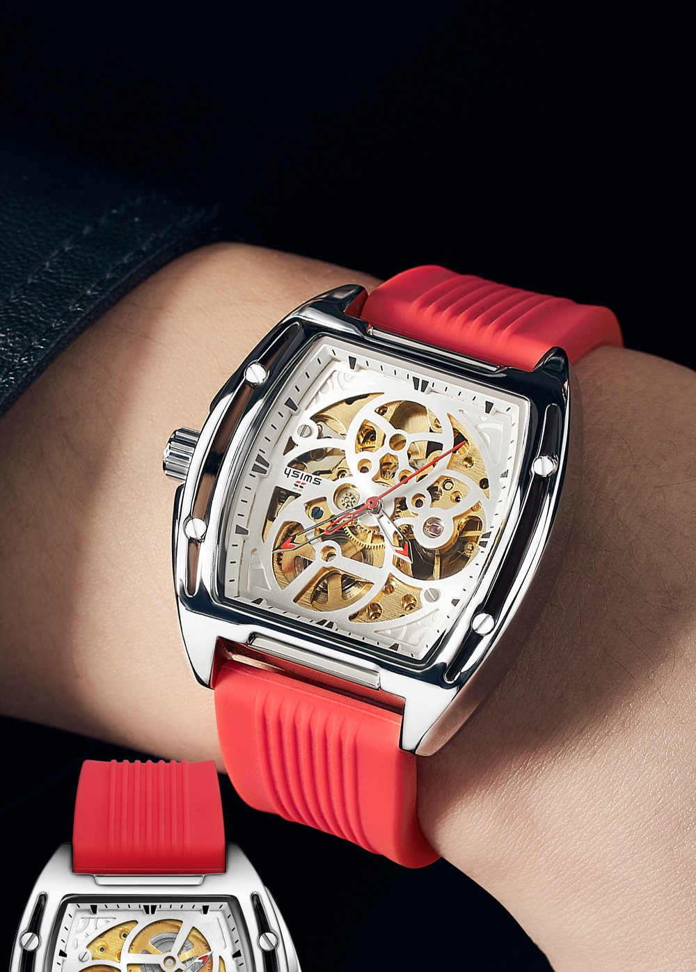 H9049f9d5f9d94b7b8d681d51ef5646a93 SWISH Brand Design Luxury Men's Mechanical Wristwatch