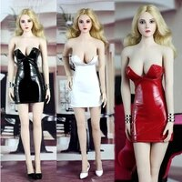 sgtoys 16 s 014 sexy lady paint skirt set red white black color for female action figure clothes