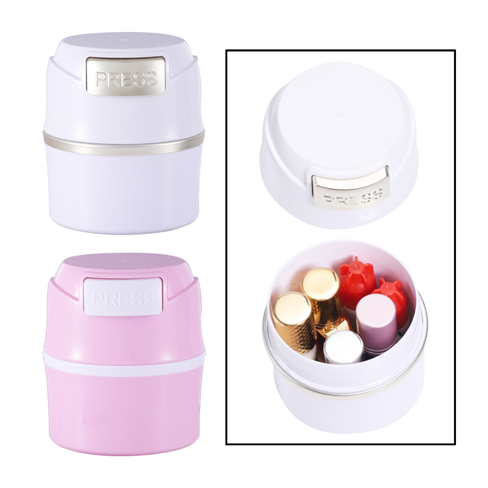 Portable Eyelash Glue Container Jar Stand Sealed Leak-Proof Lash Artists Tool for Women Girls Nail P