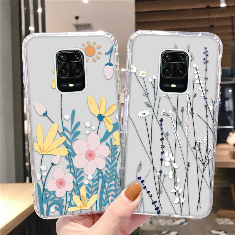 Flower Airbag Case For Xiaomi Mi 10T 10 Ultra 11 Lite Fundas Cover For Redmi Note 8 10 9 Pro Max 8T 7S 9S 10S Soft TPU Shell