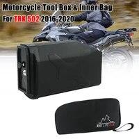 motorcycle waterproof left side toolbox 5 liters plastic tool box case inner bag for benelli trk502 trk 502x trk 502 x 2016 2020