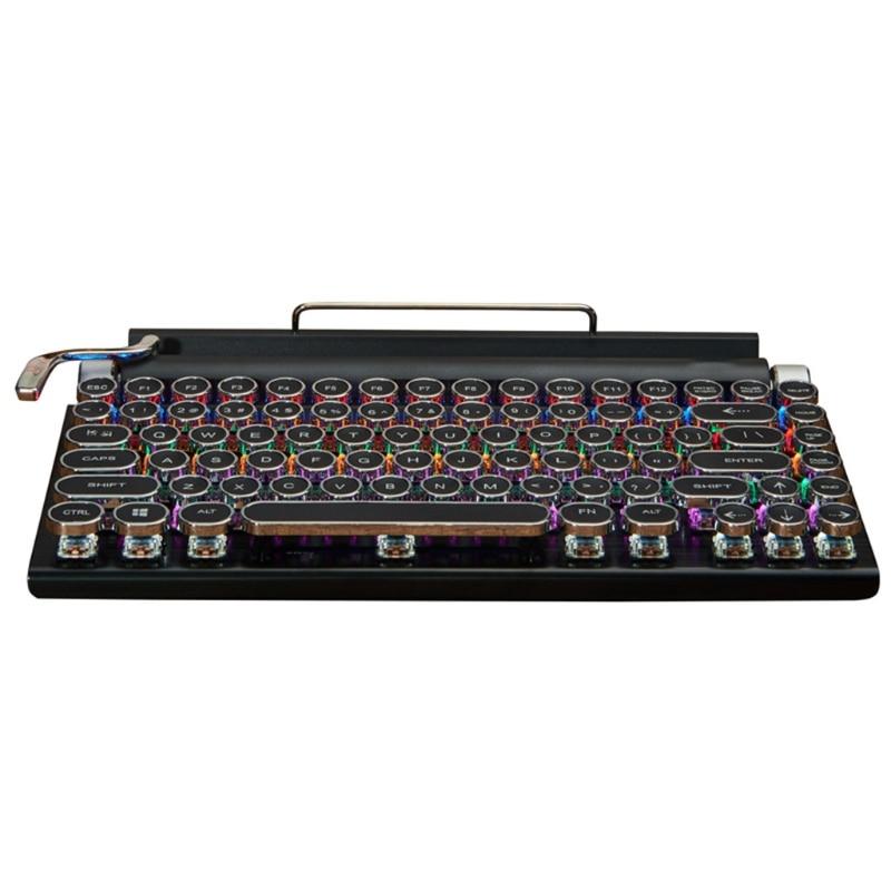Computer Keyboard Retro Typewriter Keyboard Gamer for Desktop Laptop PC Gaming