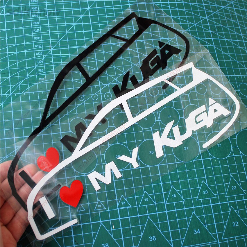 New I love my car Vinly Decal Styling Door Windows Trunk Sticker For ford kuga 2018 2017 2013 2014 2015 2008 accessories