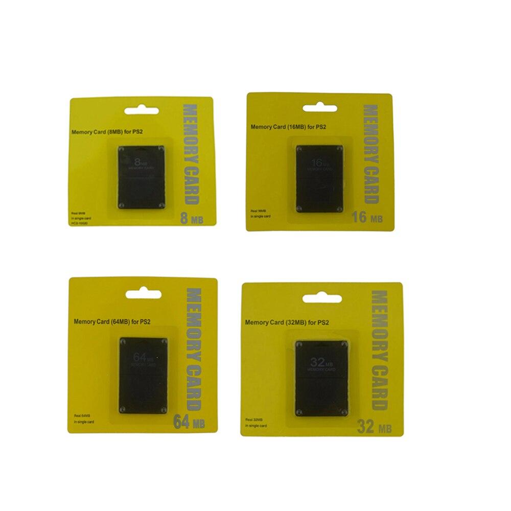 100 قطعة 8 ميجابايت 16 ميجابايت 32 ميجابايت 64 ميجابايت بطاقة ذاكرة للبلاي ستيشن 2 لنظام ألعاب PS 2 متوافق مع FMCB