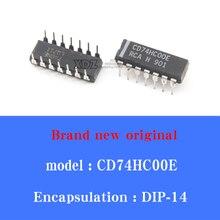20/pcs Lot Brand new original CD74HC00E dual-line dual-line in-line DIP14 foot integrated block elec