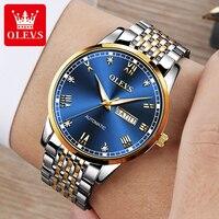OLEVS Luxury Automatic Watch Men\'s Mechanical Watch Waterproof Stainless Steel Casual Business Men Wrist Watch Gift Dropshipping