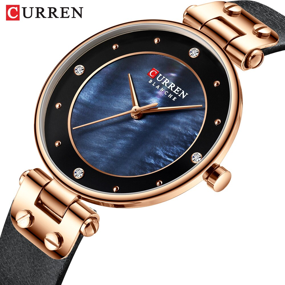 Reloj Casual de moda CURREN para mujer reloj de cuarzo de acero inoxidable de plata reloj de mujer calendario impermeable para chica reloj femenino