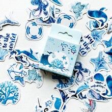 50 teile/paket Nette Meer Kreatur Shell Whale Papier Aufkleber DIY Dekorative Dicht Paste Stick Label Schreibwaren Kinder Geschenk