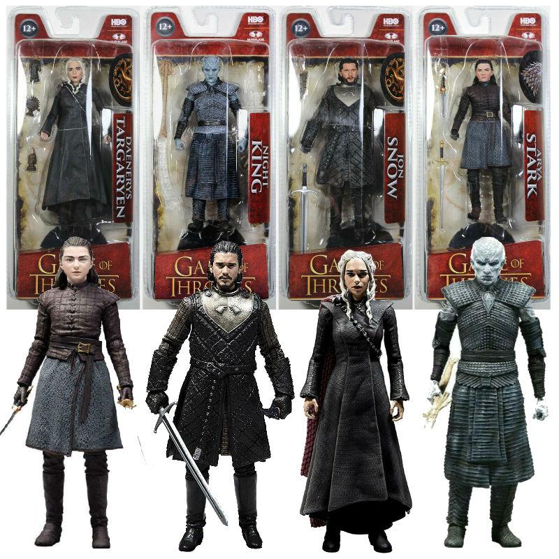 Game of Thrones Action Figure Black Drogon Jon Snow Nights King Daener movement PVC Model Collection Toys McFARLANE Figure gifts