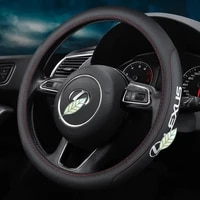 car carbon fiber leather steering wheel covers interior accessories 38cm for lexus ct lx gx lm is gs es ls ux nx rx car styling