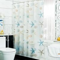 eight size 120CM 150CM 180CM 200CM 240CM PEVA waterproof shower curtain set bathroom curtain bath curtain with hanger