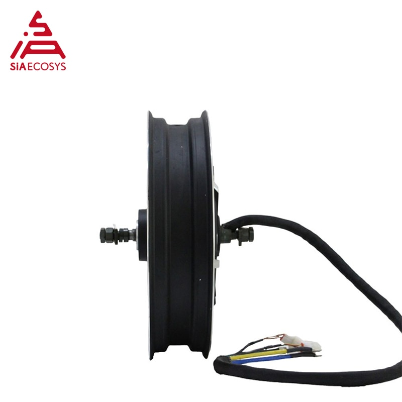 QSMOTOR SiAECOSYS 17X3.5inch 8000W V3 72V 120kph hub Motor with APT72600 controller power train kits for electric motorcycle enlarge