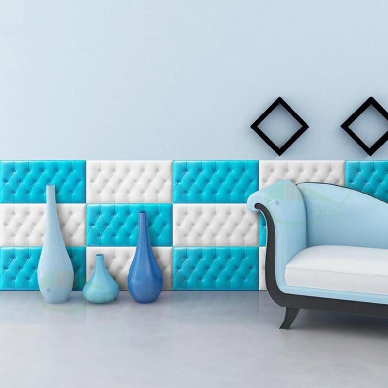 Selbst-adhesive 3D Drei-dimensional Wand Aufkleber Tatami Anti-kollision Wand Matte Kinders Schlafzimmer Bett weiche Kissen