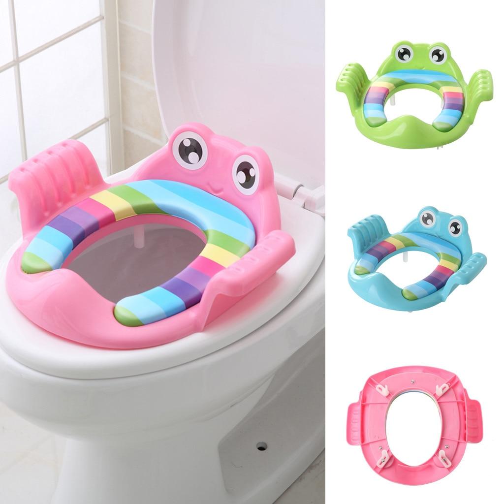 3 colores bebé niño orinal inodoro asiento escalón escalera taburete Silla de entrenamiento ajustable niños inodoro comodidad suave antideslizante
