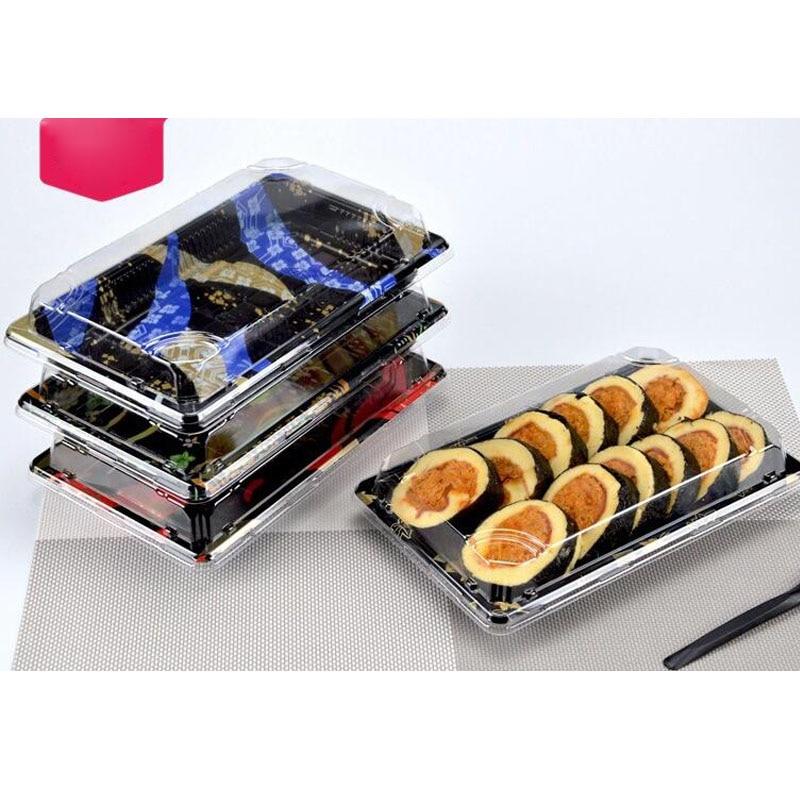 Japanische Sushi Verpackung Boxen Einweg Takeout Lebensmittel Container Kunststoff Geschirr Boxen