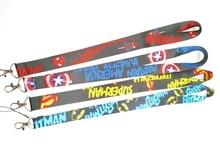 New  cartoon Captain America superman  batman lanyard  Neck Strap Lanyards  Badge Holder Rope Pendant Key Chain Accessorie