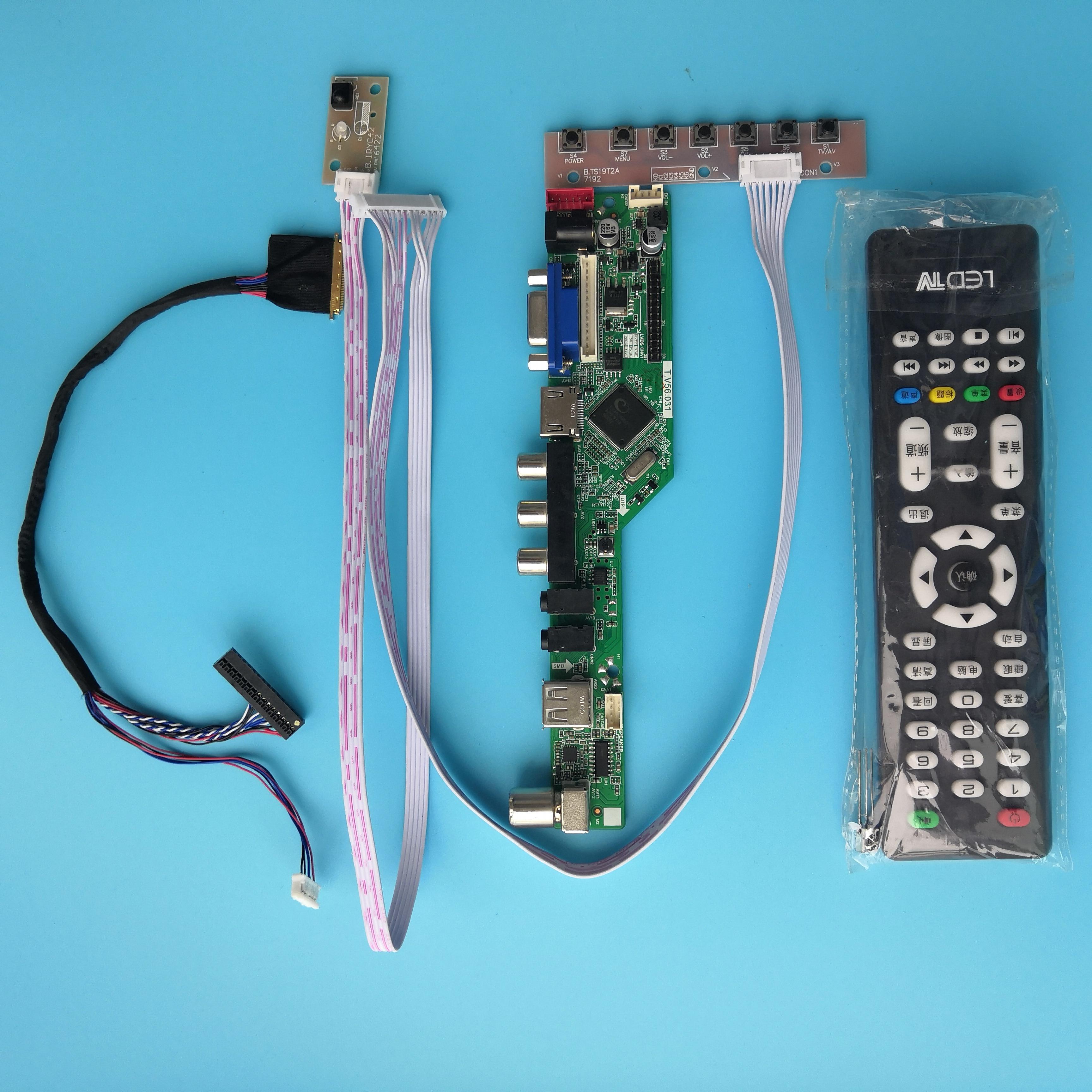 kit for LTN156AT15 remote VGA Controller board 1336X768 driver HDMI-compatible LCD LED TV AV 40pin LVDS 15.6