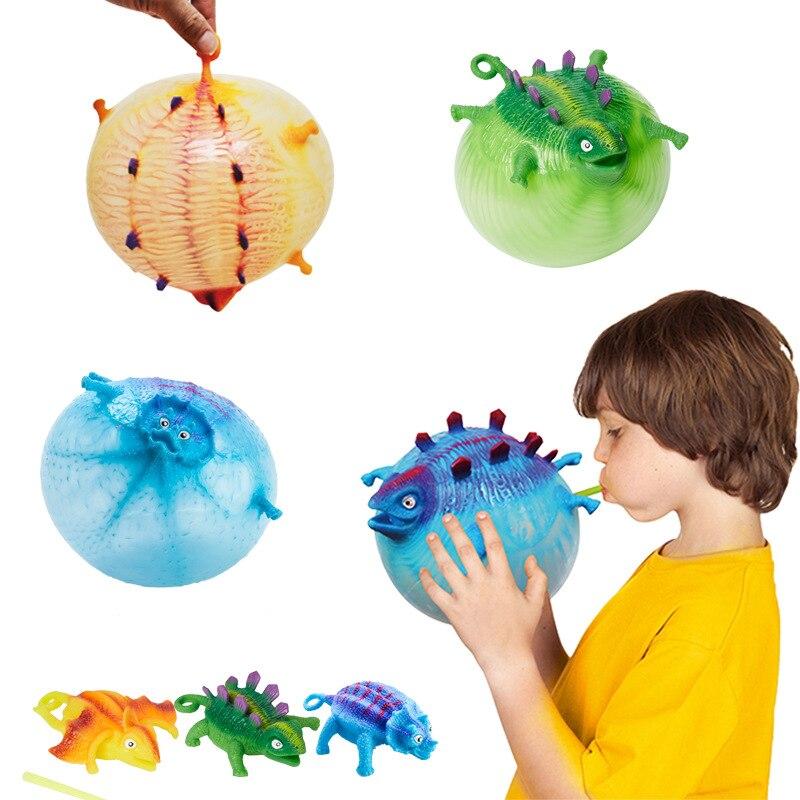 Huilong креативные Новые экзотические игрушки TPR надувные животные вентиляционные игрушки надувные динозавры волнистые шарики детские игрушк...
