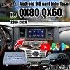 Boîte de navigation androïde 9.0 GPS pour QX80 Infiniti interface Android sans fil carplay commande de bouton d'oem par Lsailt