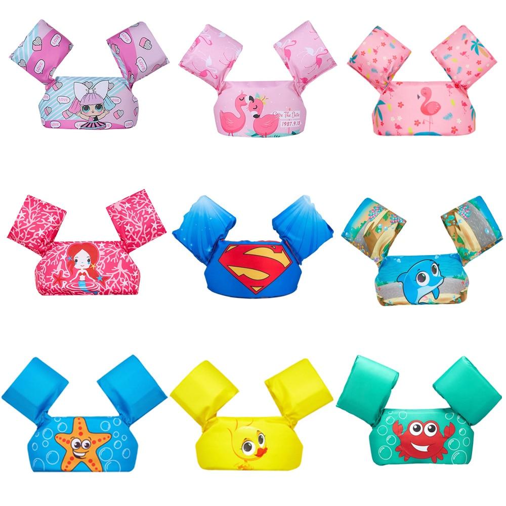 Chaqueta salvavidas de dibujos animados para niños, chaqueta de flotabilidad, brazo de bebé, niño y niña círculo para, chaleco de flotabilidad, anillo de baño