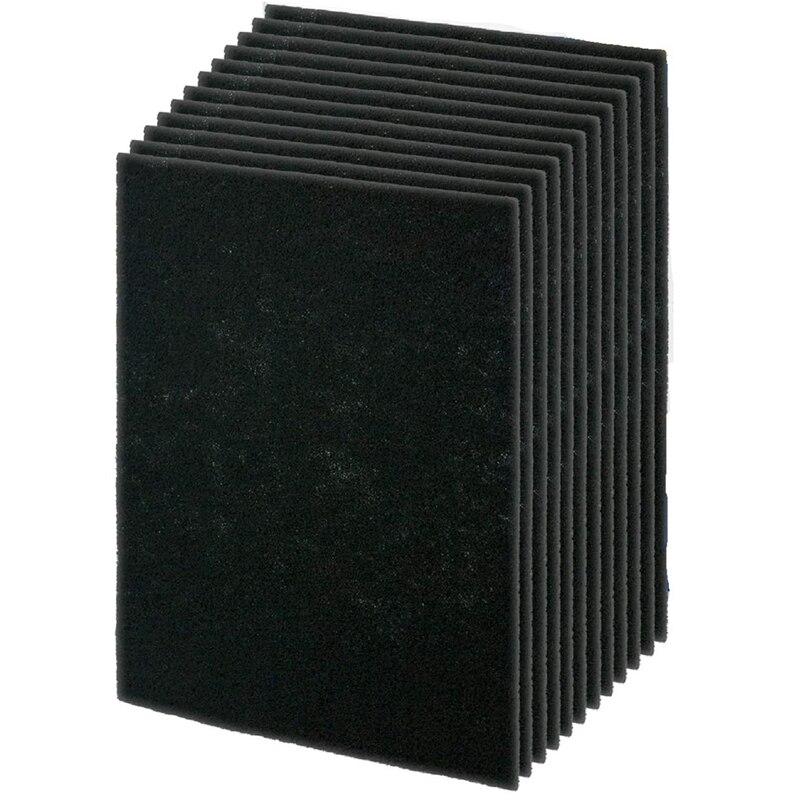 12 pces precut para hpa200 premium carvao ativado pre filtros compativeis com modelos