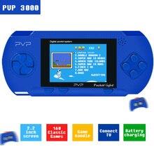 PVP 3000 lecteur de jeu Portable intégré 89 jeux vidéo Portable 2.8 LCD 8 bits jeux famille Mini Console de jeu vidéo