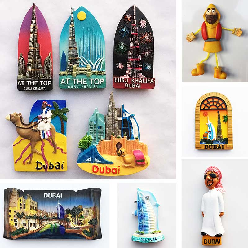 Dubai Tourist Souvenirs Fridge Magnets Khalifa Tower Saudi Arabia Refrigerator Commemorative Magnet Stickers Home Decoration dubai tourist souvenirs fridge magnets khalifa tower saudi arabia refrigerator commemorative magnet stickers home decoration