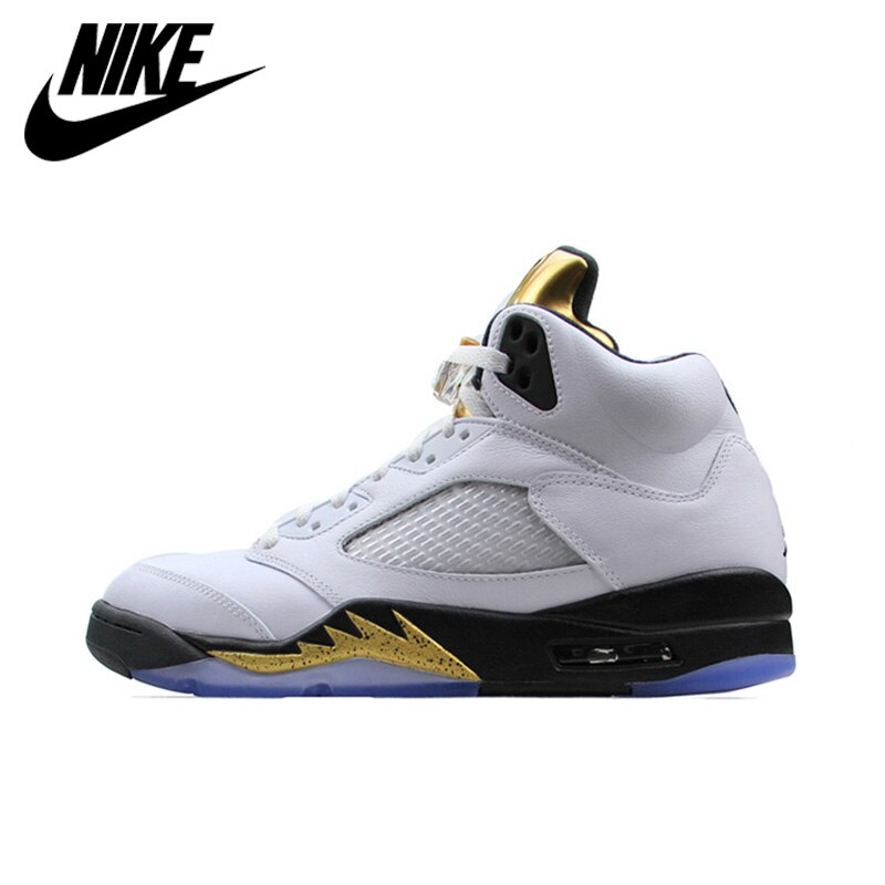 Nike Air Jordan 5 Retro AJ 5 Men's Breathable New Arrival Official Basketball Shoes Sports Sneakers 136027-133