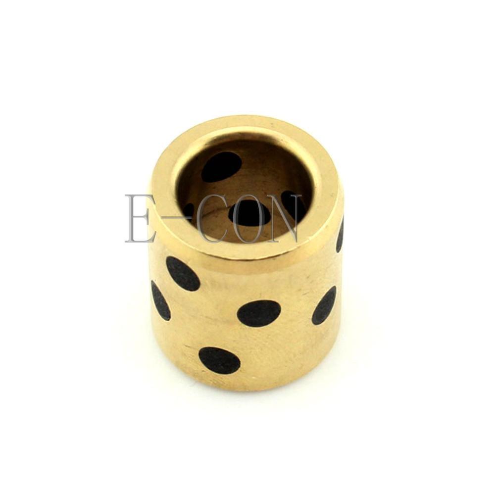 1 pces jdb oilless grafite lubrificação bronze rolamento bucha manga 10x14x12mm