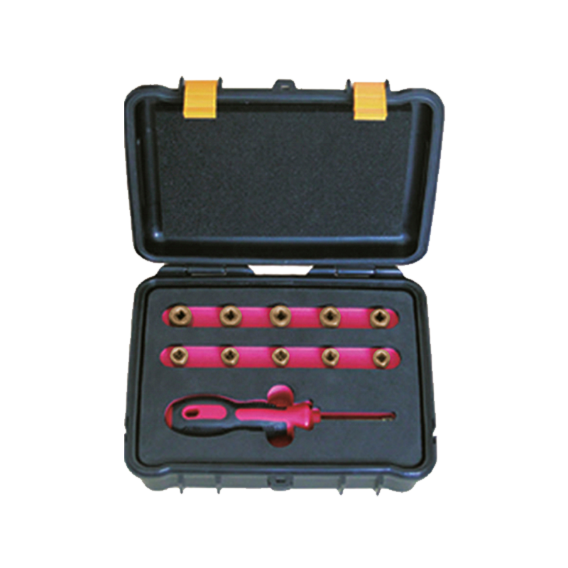 Professional WEDO manufacturer ATEX UKAS GS FM ISO9001 Certificate die-forged Non-Sparking Non-Magnetic 1/4'Dr Socket Set-9pcs enlarge