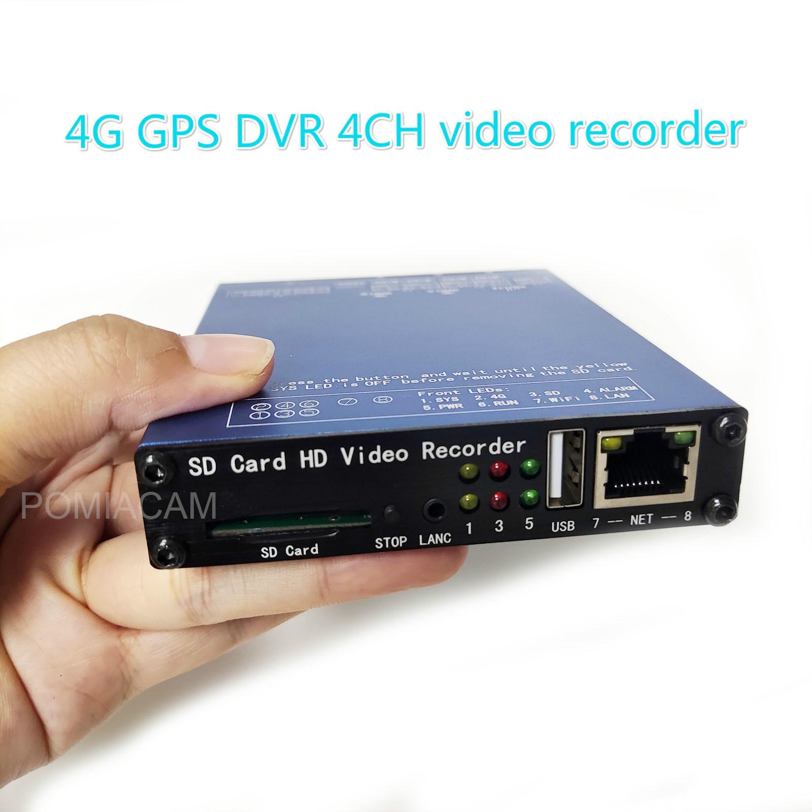 SDVR004Pro-كاميرا DVR صغيرة مزودة بكاميرا ، تسجيل فيديو ، WIFI ، 1080P ، شاشة كشف ، dvr في الوقت الفعلي ، لكاميرا BNC ، GPS ، WIFI ، 4G