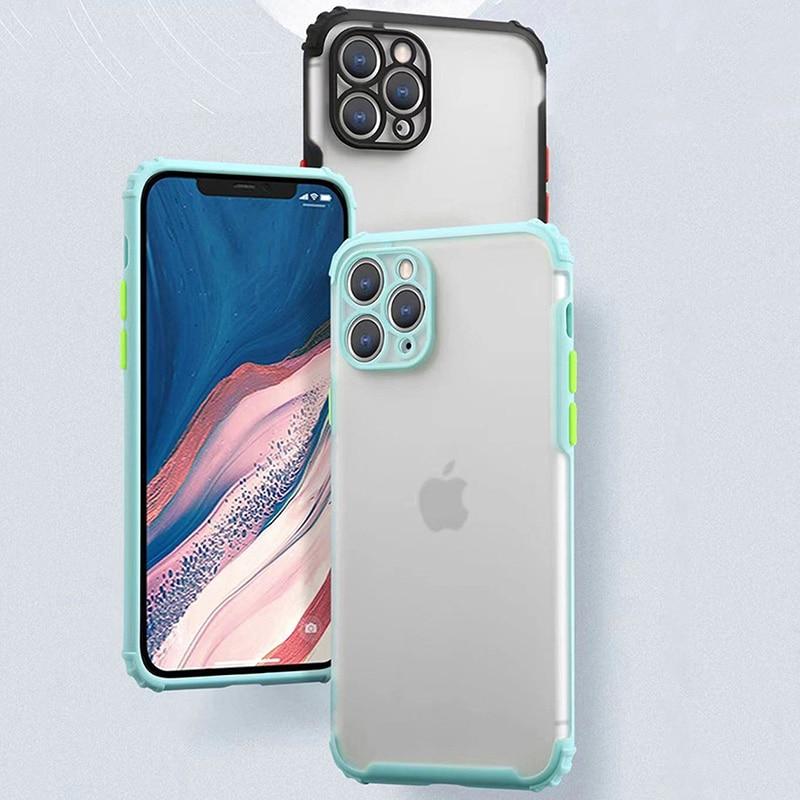 Luxury Original Matte Phone Case For iPhone 12 11 Pro XS Max X XR Transparent Case On iPhone 7 8 6s 6 Plus SE New Design Cover