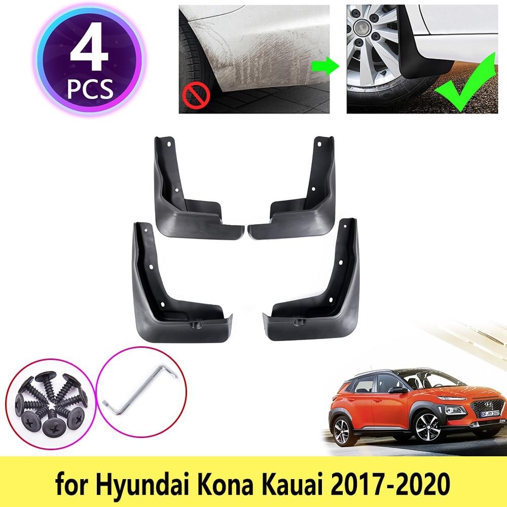 4 pièces pour Hyundai Kona Kauai 2017 2018 2019 2020 garde-boue garde-boue garde-boue garde-boue