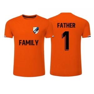 Mens New Football T-shirt Customize Logo Sponsor Namesets Blank Shirts Team Sports T-shirts S-2XL