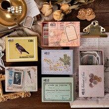 80 pièces/boîte Style Vintage boîte dallumettes série japon Washi autocollants classique et belle papeterie