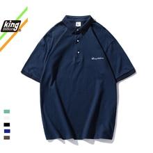 KB 100% coton Polo hommes POLO ample à manches courtes décontracté basique t-shirt revers cou t-shirt hommes manteau broderie Polo