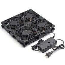 مستدير صندوق التلفزيون مروحة التبريد مع التحكم في السرعة ، 182CFM تدفق الهواء الكبير التبريد لأسوس GT/RT-AC5300 الولايات المتحدة التوصيل