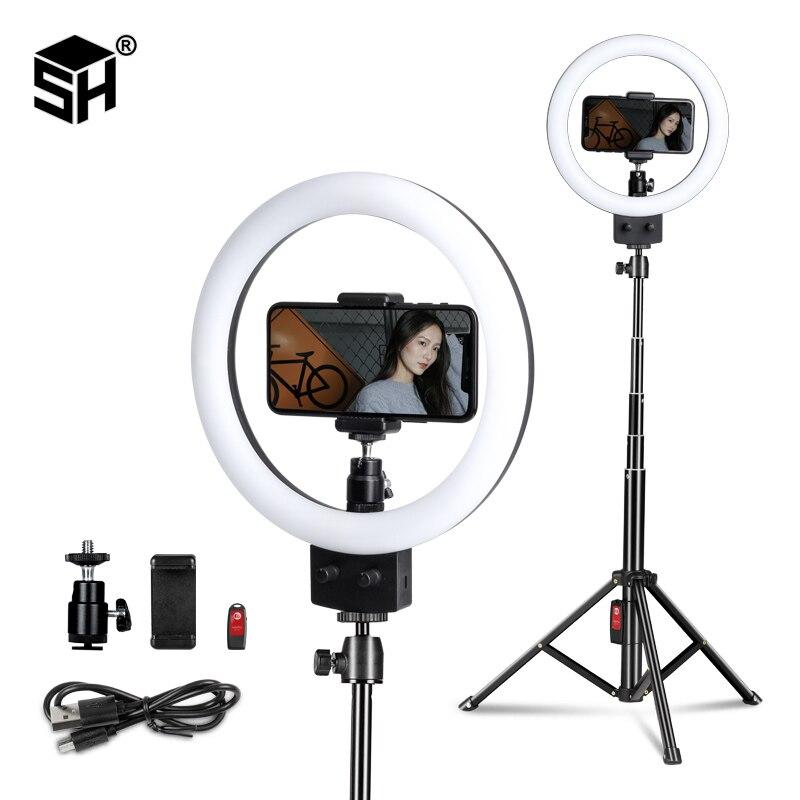 9inch/23cm LED Ring Licht Selfie Ring Lampe Mit Stativ Für Telefon Für Foto Studio Make-Up Video licht