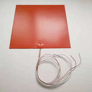 Silicone Heated Bed Heating Pad Waterproof 12/24V 150x150/200x200mmfor 3D printer Parts hot bed