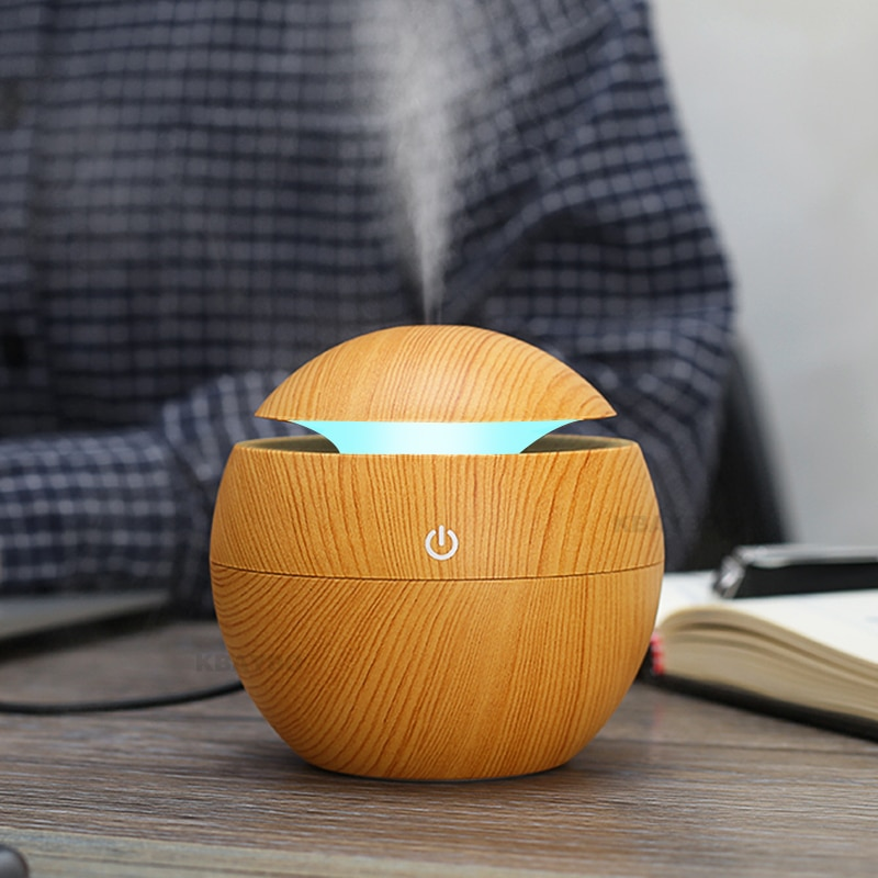 KBAYBO Aroma Essential Oil Diffuser Ultrasonic Cool Mist Humidifier Air Purifier 7 Color Change LED Night light for Office Home
