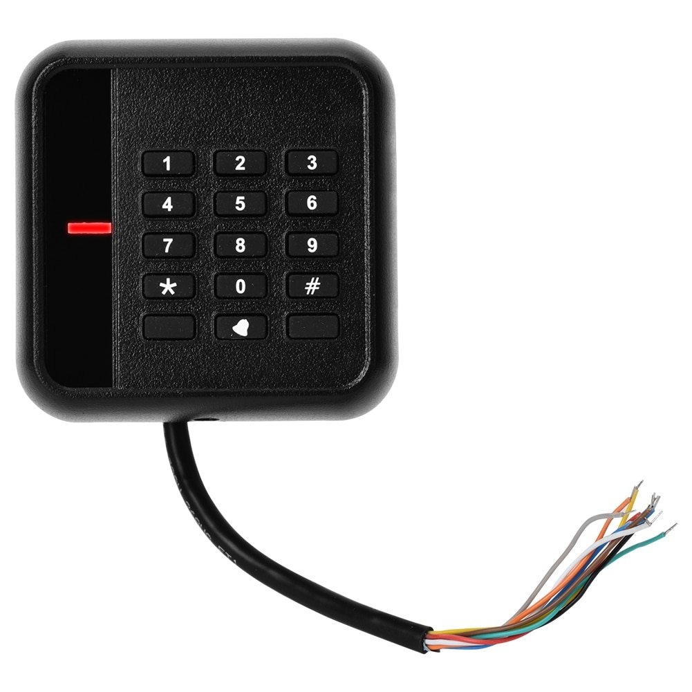 Wiegand 26 Black ID Card Keyboard Door Access Readers For Family Gated Office Buildings Factory Staff Quarters Public Buildings