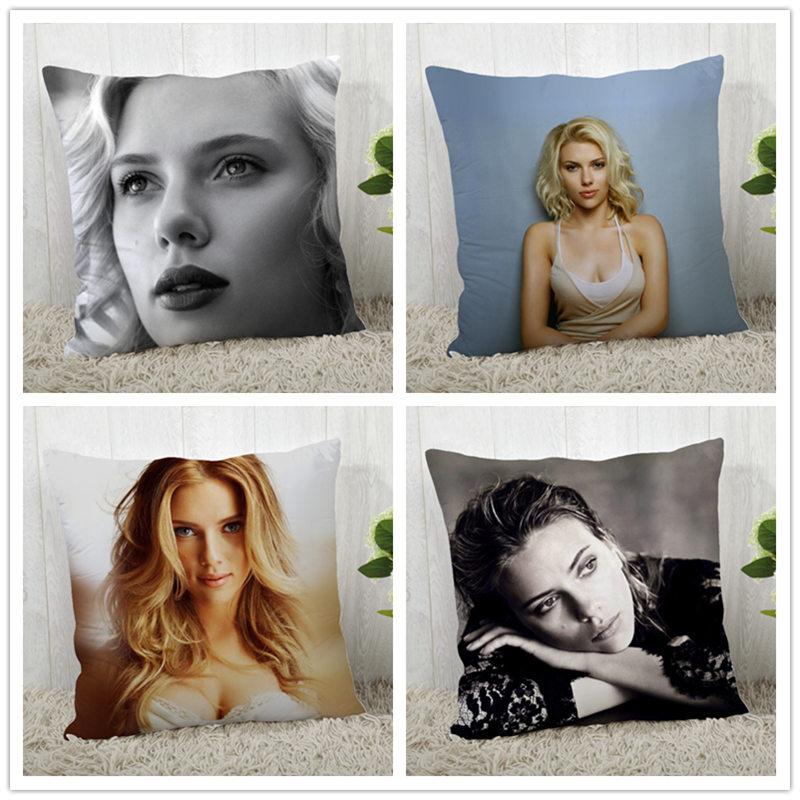 Пользовательская Подушка Scarlett Johansson чехол из полиэстера декоративная подушка чехол s Подушка на молнии Чехол Подушка Чехол квадратный 40*40 с... чехол