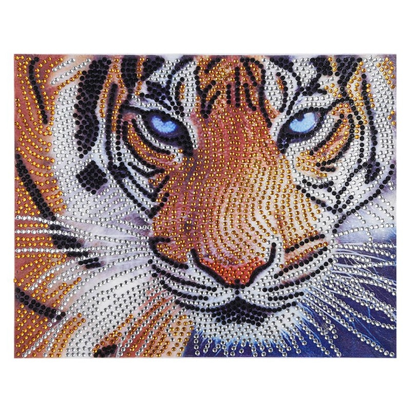 Animal Diamond Embroidery 5D Diy Diamond Painting Tigers Cross Stitch Partial Special Shaped Diamond Rhinestone Home Decor