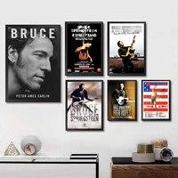 Bruce Springsteen     autocollants muraux  Image claire  decoration pour la maison  imprimes de bonne qualite  papier couche blanc  marque dart pour la maison
