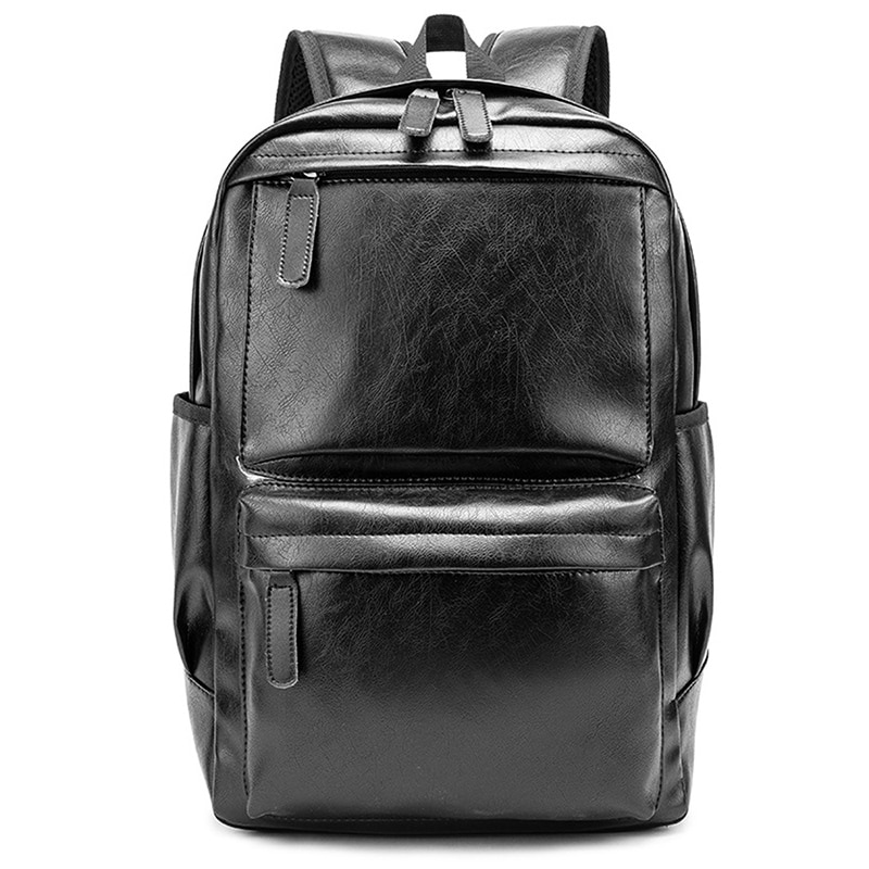 Men Fashion Backpack Leather Travel Bag Casual Tote Book bag Male Brand Design laptop computer leather back pack laptop