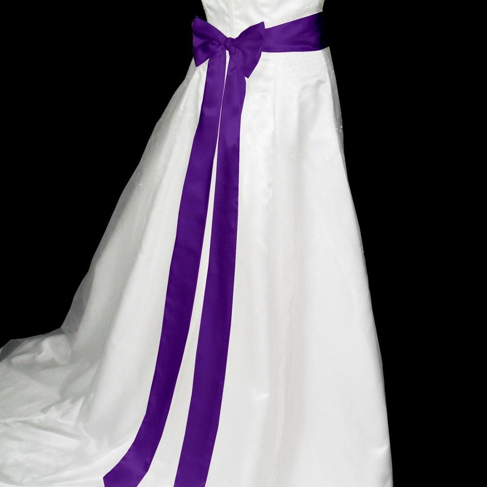 Jlzxsy 2.5 polegadas x 120 polegadas fita de cetim cinto de casamento/nupcial faixa/vestido de noite cinto duble enfrentou fita de cetim escolher a cor