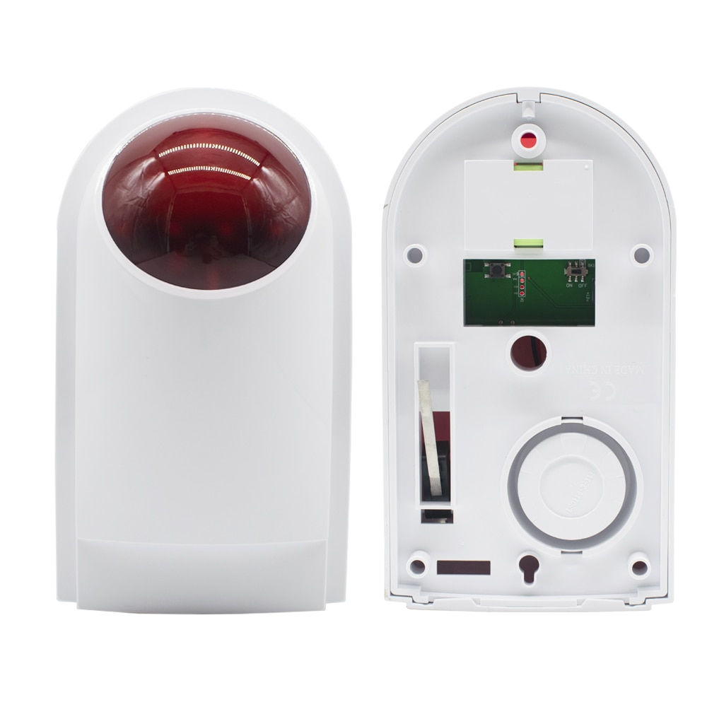 433MHz Wireless Outdoor Waterproof Strobe Siren stroboscope 130db Home Security Alarm Work With 433MHz host and accessories