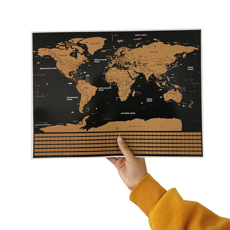 1 Pcs Erasable map Flag version of the world map 40*30cm decorative wall stickers student teaching equipment Decorative poster