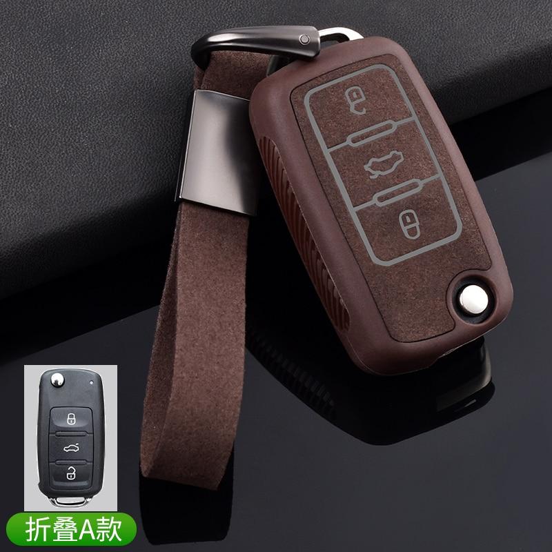 Couro tpu chave do carro capa para vw volkswagen polo jetta golf mk6 tdi gti r32 assento skoda padrão remoto inteligente chaveiro